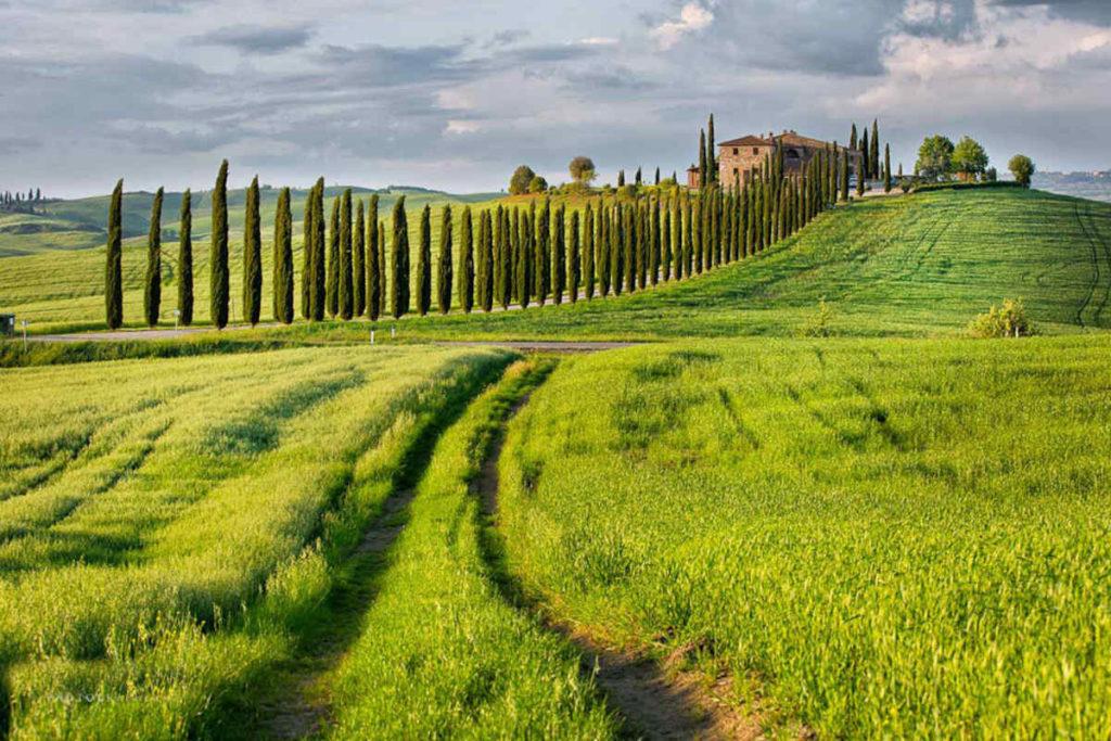 イタリアの世界遺産 オルチャ渓谷
