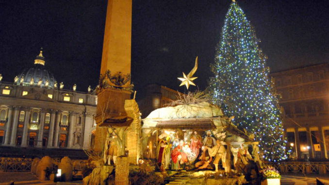 サン・ピエトロ広場のクリスマス