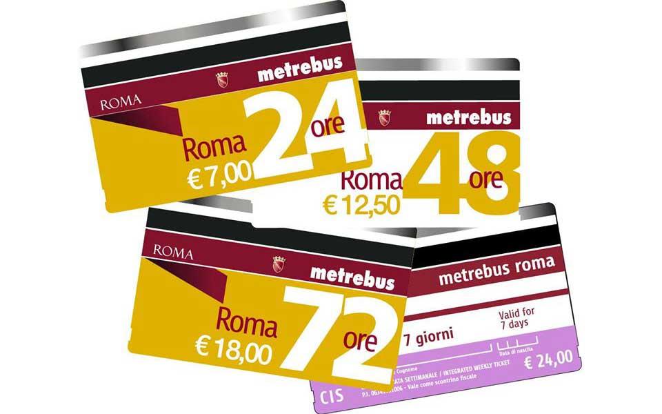 ローマ地下鉄ATACの切符