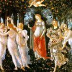 Botticelli: La Primavera ボッティチェッリ作「春」 1477-1478年、第10-14室