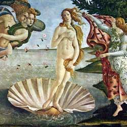 Botticelli: La nascita di Venere ボッティチェッリ作「ヴィーナスの誕生」 1485年、第10-14室