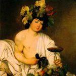 Caravaggio: Bacco adolescente カラヴァッジョ作「バッカス」 1597年頃