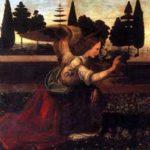 Leonardo: Annunciazione レオナルド・ダヴィンチ作「受胎告知」 1472-1475年、第15室