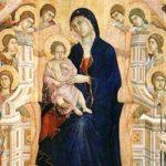 Duccio: Madonna in Trono con Bambino e Angeli ドゥッチョ作「玉座の聖母子 マエスタ」 1308-1311年、第2室