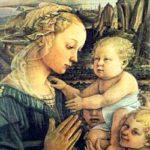 Filippo Lippi: Madonna col Bambino e due Angeli フィリッポ・リッピ作「聖母子と二天使」 1465年、第8室