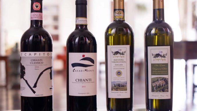フィレンツェのワインとオリーブオイル