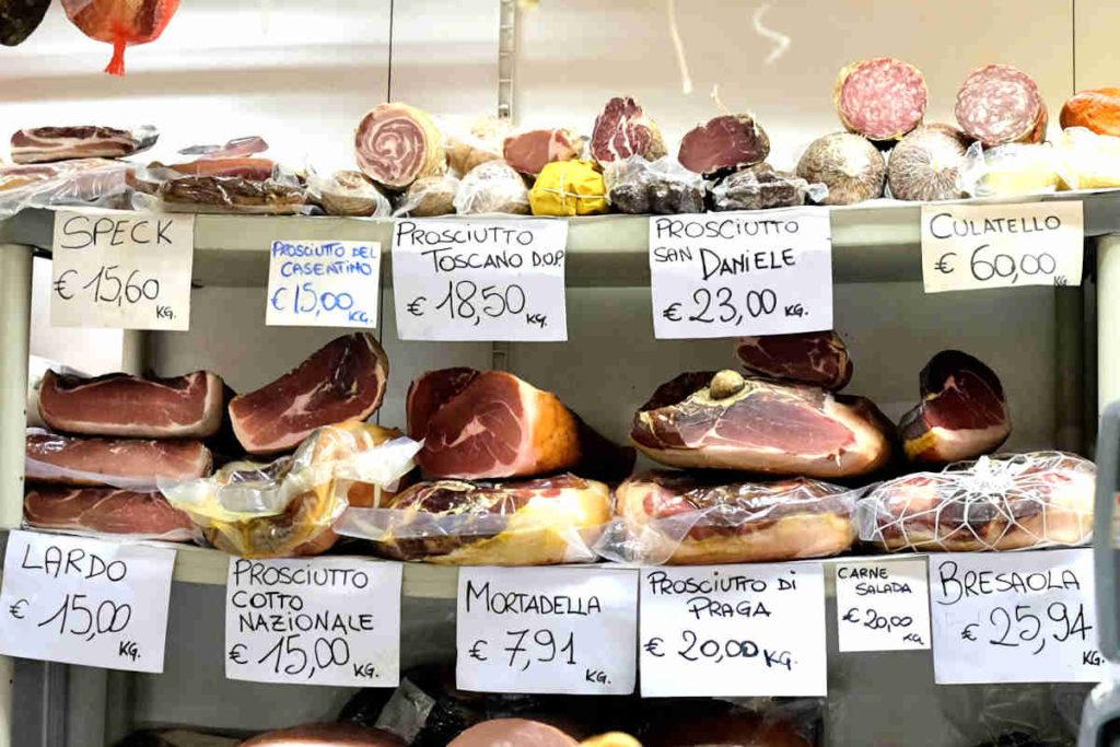 Firenze Mercato Centrale Formaggio e Prosciutto MARCO