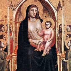 Giotto: Madonna in Trono con Bambino, Angeli e Santi ジョット作「マエスタ」 1306-1310年頃、第2室
