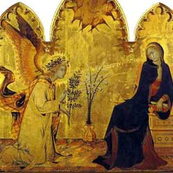 Simone Martini: L'Annunciazione シモーネ・マルティーニ「受胎告知」 1333年、第3室