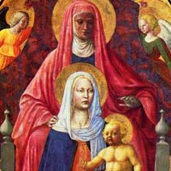 Masaccio e Masolino: Madonna col Bambino e Sant'Anna ピエロ・デッラ・フランチェスカ作「ウルビーノ公夫妻の肖像」 1420-1424年、第8室