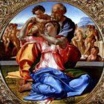 Michelangelo: Sacra Famiglia ミケランジェロ作「聖家族」 1504年頃、第25室