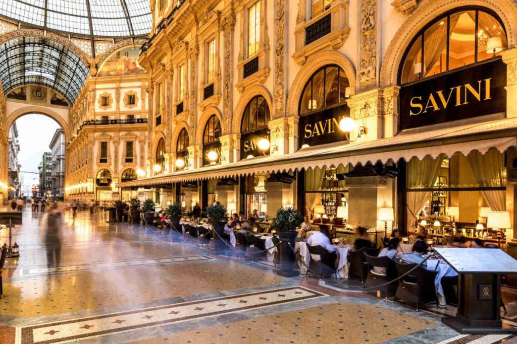 Milano Galleria Caffe Savini