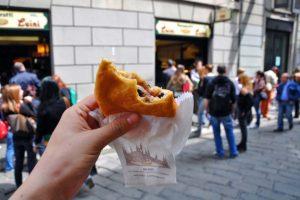 ミラノ ルイーニの揚げピッツァ