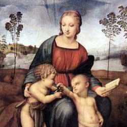 Raffaello: Madonna del Cardellino ラファエッロ作「ひわの聖母」 1507年、第26室