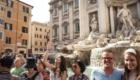 ローマ トレヴィの泉 コインを投げる