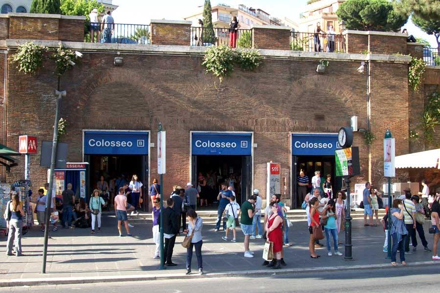 ローマ地下鉄B線コロッセオ駅