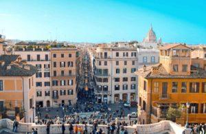 ローマ スペイン階段からの眺め