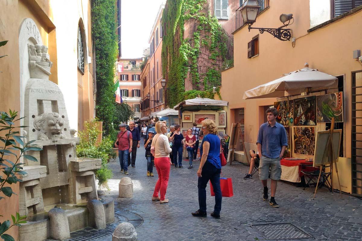 ローマ マルグッタ通りのショップ