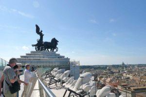 ローマ ヴィットリオ・エマヌエーレ二世記念堂 屋上テラスからの眺望