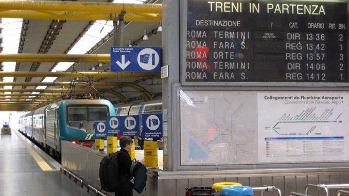 ローマフィウミチーノ空港駅