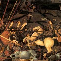 Paolo Uccello: Battaglia di San Romano ウッチェッロ作「サン・ロマーノの戦」 1456年頃、第7室