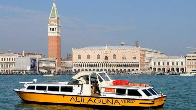 ベネチア空港から水上バス・アリラグーナ