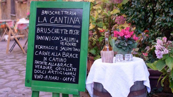 チヴィタのレストラン
