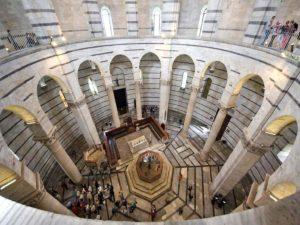 ピサの斜塔の内部