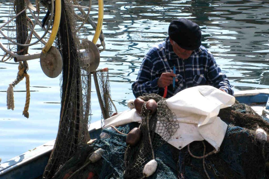 プローチダ島の漁師