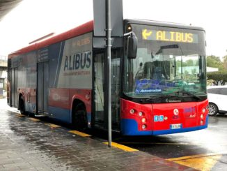 カターニア空港からのシャトルバス