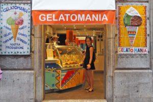 タオルミーナのジェラート店「Gelatomania」