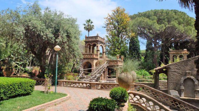 タオルミーナのヴィッラ・コムナーレ庭園