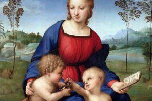 フィレンツェ ウフィツィ美術館 ラファエッロ作「madonna del cardellino」