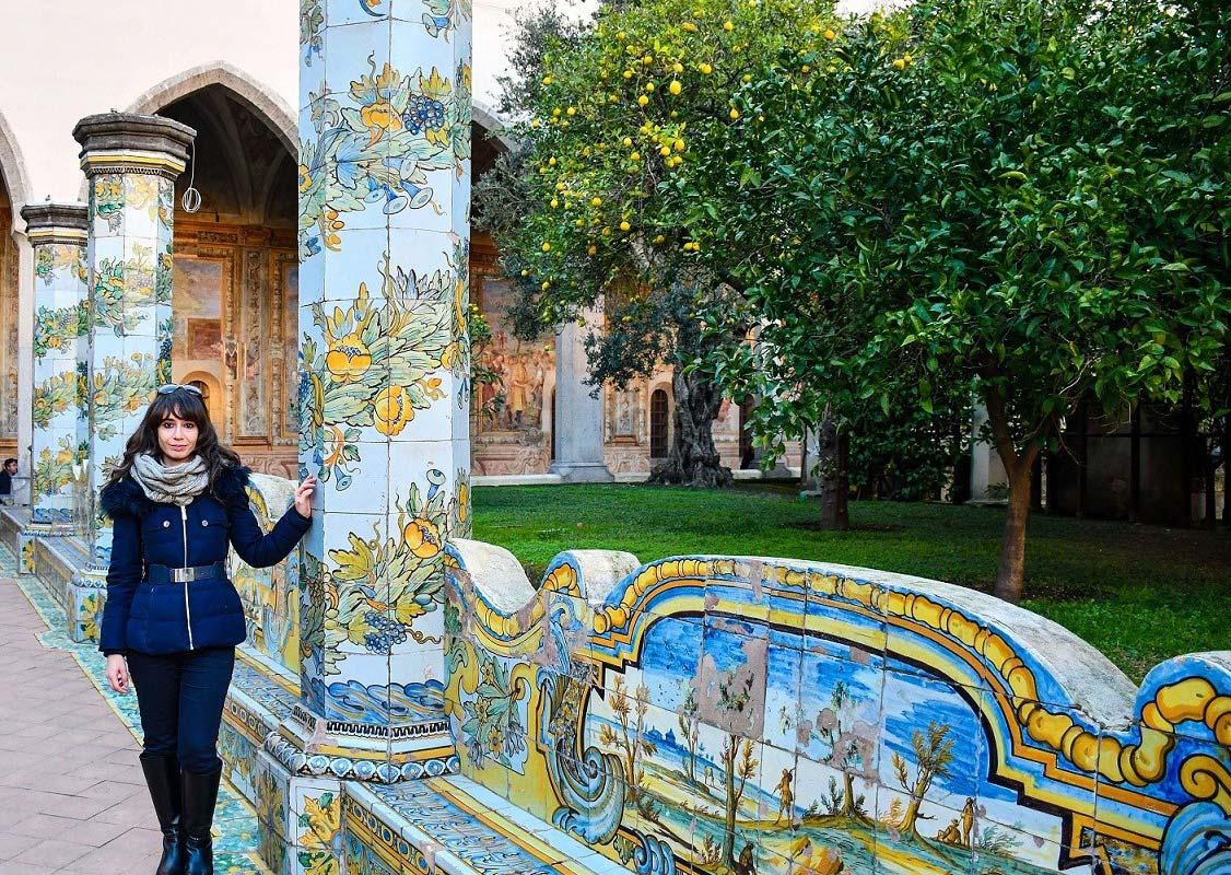 ナポリ サンタ キアーラ教会と回廊