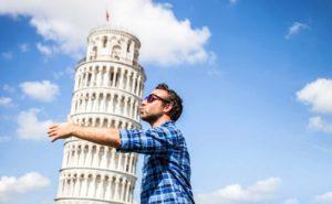 ピサの斜塔で面白い写真