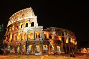 ローマの夜景 コロッセオ