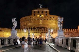 ローマの夜景 サンタンジェロ城