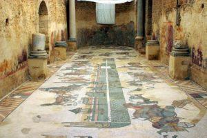 世界遺産のピアッツァ・アルメリーナのカザーレの別荘跡