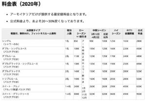 Firenze Hotel Executive Price-List 2020